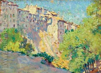 Village of Cuenca Spain - William Henry Clapp reproduction oil painting