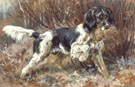 An English Settr Retrieving - Edmund Henry Osthaus reproduction oil painting