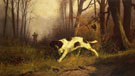 Dog with Hunter - Edmund Henry Osthaus reproduction oil painting