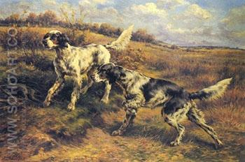 English Setters on the Scent - Edmund Henry Osthaus reproduction oil painting