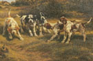 Five Pointer Puppies - Edmund Henry Osthaus reproduction oil painting