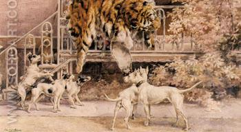 Hunting Tigers the Terriers - Edmund Henry Osthaus reproduction oil painting
