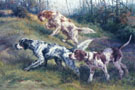 On the Point English Setters and Pointer - Edmund Henry Osthaus reproduction oil painting