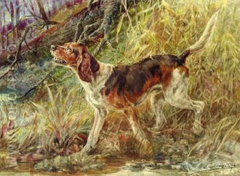 On the Scent A - Edmund Henry Osthaus reproduction oil painting
