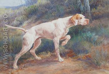 Pointer in a Landscape - Edmund Henry Osthaus reproduction oil painting