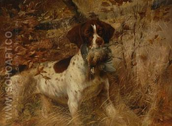Pointer with Quail - Edmund Henry Osthaus reproduction oil painting