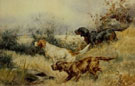Setters in Landscape - Edmund Henry Osthaus reproduction oil painting