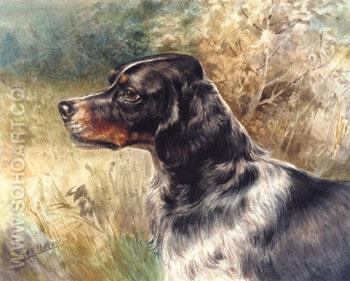 The English Setter - Edmund Henry Osthaus reproduction oil painting