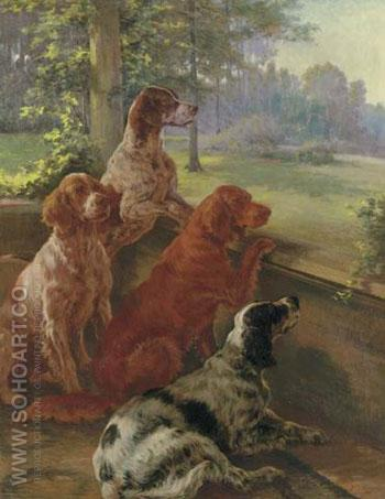 Waiting for Master - Edmund Henry Osthaus reproduction oil painting