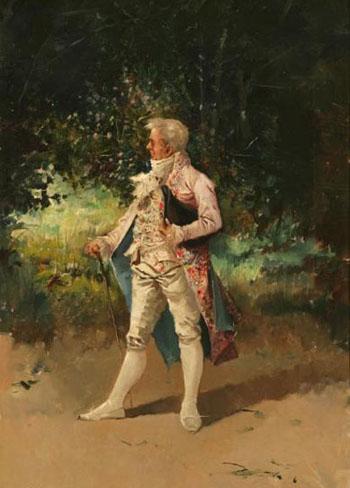 Caballero - Eugenio Lucas Villamil reproduction oil painting