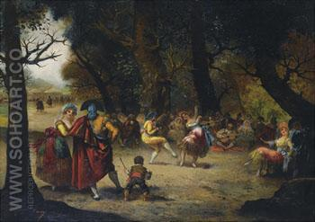 The Country Dance - Eugenio Lucas Villamil reproduction oil painting