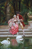 Feeding the Swans - Frederic Soulacroix reproduction oil painting