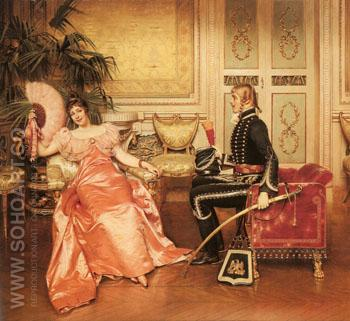 Flirtation - Frederic Soulacroix reproduction oil painting