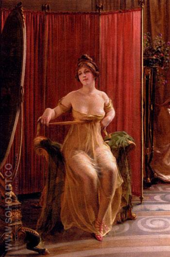 In The Dressing Room - Frederic Soulacroix reproduction oil painting