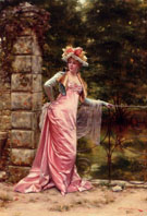 In the Garden - Frederic Soulacroix reproduction oil painting