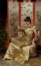 La Lecture - Frederic Soulacroix reproduction oil painting