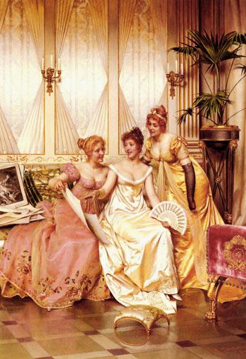 Les Trois Connaisseuses - Frederic Soulacroix reproduction oil painting