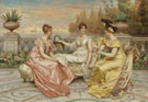 Tea on the Terrace - Frederic Soulacroix reproduction oil painting