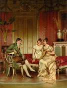 The Afternoon Visitor - Frederic Soulacroix reproduction oil painting