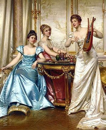 The Charming Performance - Frederic Soulacroix reproduction oil painting