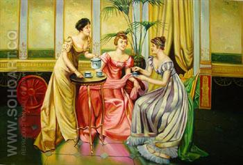 The Tea Party A - Frederic Soulacroix reproduction oil painting