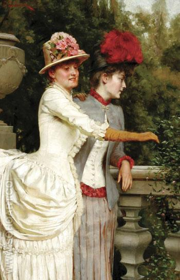 Women on a Balcony - Frederic Soulacroix reproduction oil painting