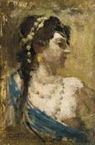 Profilo di Donna - Gaetano Esposito reproduction oil painting