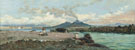 Relaxing on the Shore Vesuvius Beyond - Gaetano Esposito reproduction oil painting