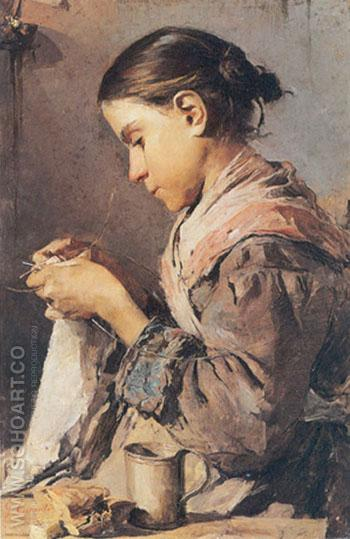 Salerno 1858 Sala Consilina 1911 - Gaetano Esposito reproduction oil painting