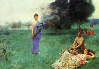 Fleur de Luce - Henry Siddons Mowbray reproduction oil painting
