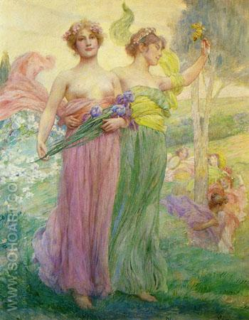 Floreal - Henry Siddons Mowbray reproduction oil painting