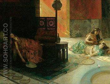 Harem Scene 1884 - Henry Siddons Mowbray reproduction oil painting