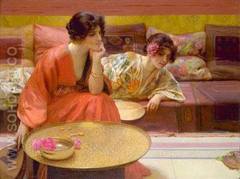 Idle Hours 1895 - Henry Siddons Mowbray reproduction oil painting