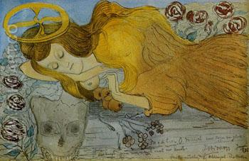 Aggressivity of Sleep 1898 - Jan Toorop reproduction oil painting