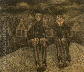 Les Calvinistes de Catwijck 1891 - Jan Toorop reproduction oil painting