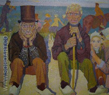 Old Men by the Sea - Jan Toorop reproduction oil painting