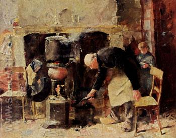 Preparing the Meal 1883 - Jan Toorop reproduction oil painting