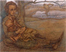 Resting Woman with Child 1898 - Jan Toorop reproduction oil painting