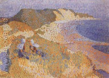 The Dunes and the Sea at Zoutlande - Jan Toorop reproduction oil painting