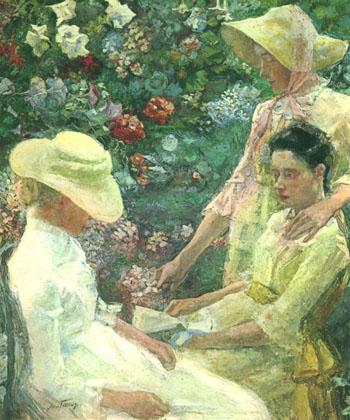Trio Fleuri 1886 - Jan Toorop reproduction oil painting