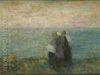 Vrouwen Aan Zee c1885 - Jan Toorop reproduction oil painting