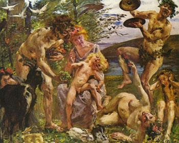 Die Jugend Des Zeus 1905 - Lovis Corinth reproduction oil painting