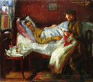 Franz Heinrich Corinth His Sickbed - Lovis Corinth reproduction oil painting