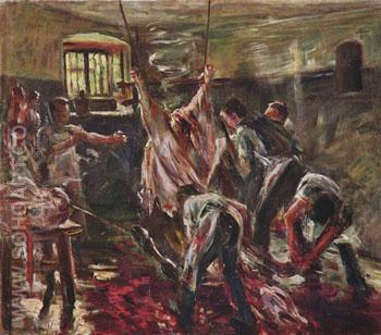 Im Schlachthaus 1893 - Lovis Corinth reproduction oil painting