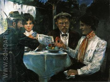 In Max Halbes Garden 1899 - Lovis Corinth reproduction oil painting