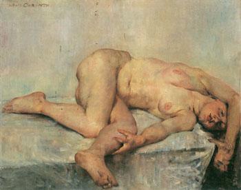 Liegedender Weiblicher Akt Reclining Nude 1907 - Lovis Corinth reproduction oil painting