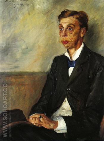 Portrait of Eduard Count Keyserling 1900 - Lovis Corinth reproduction oil painting