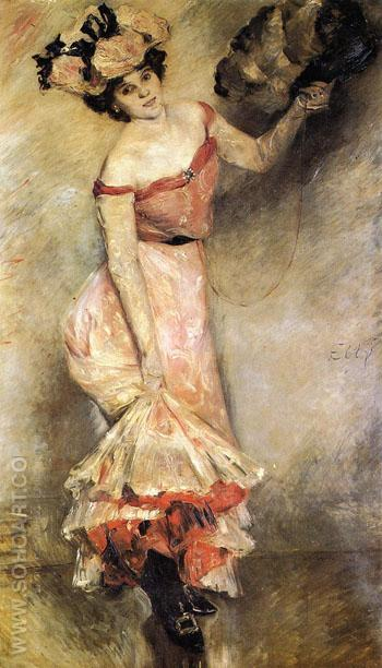 Portrait of Elly 1889 - Lovis Corinth reproduction oil painting