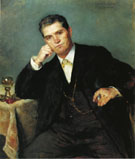Portrait of Franz Heinrich Corinth with a Glass of Wine 1883 - Lovis Corinth