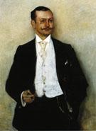 Portrait of the Painter Karl Strathmann 1895 - Lovis Corinth